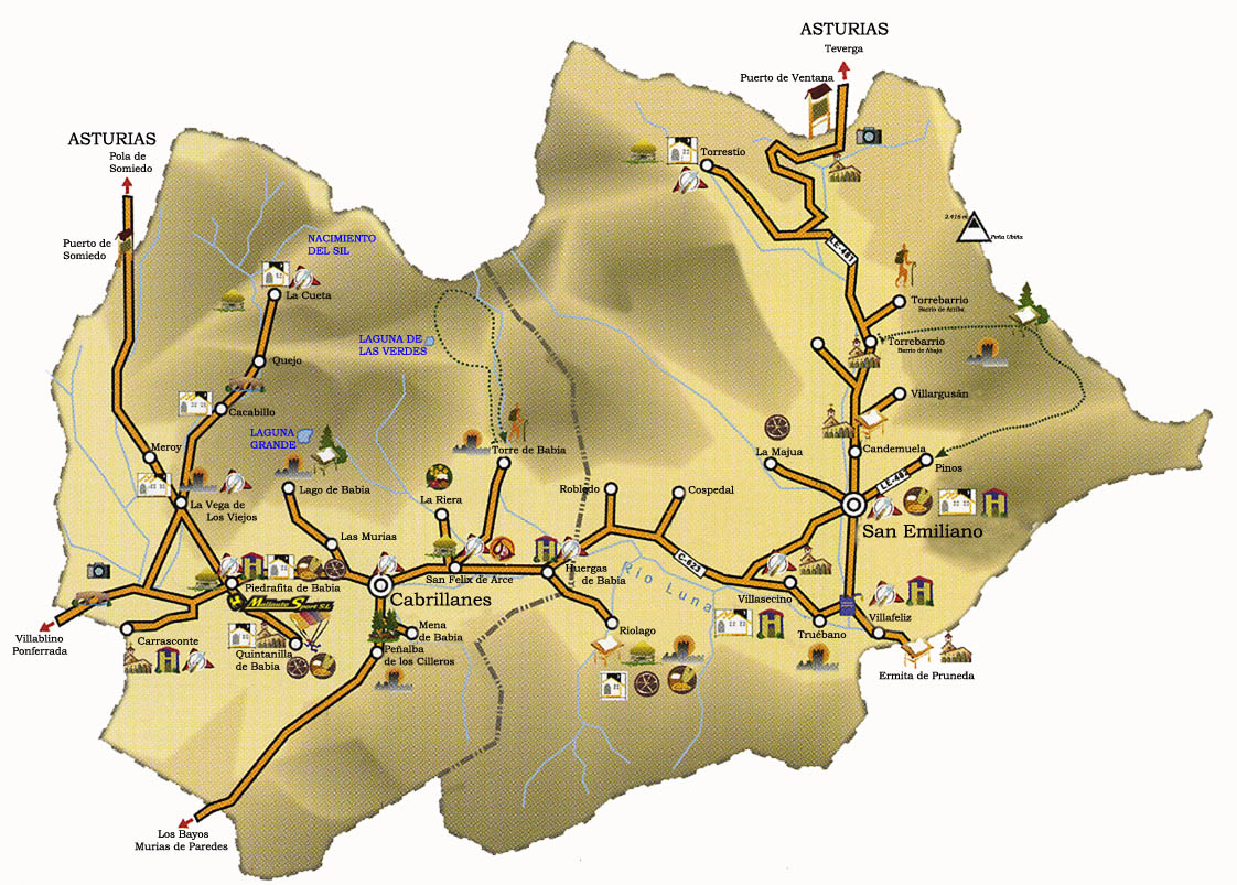 babia leon mapa