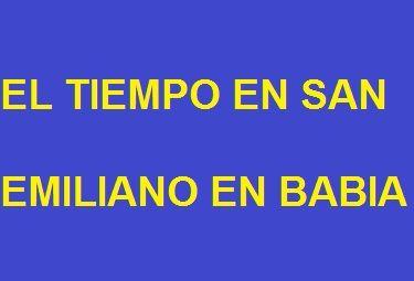 El Tiempo en San Emiliano